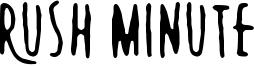 Rush Minute Font