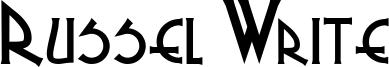 Russel Write Font