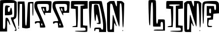 Russian Line Font