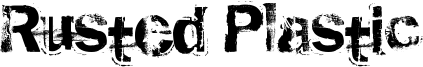 Rusted Plastic Font