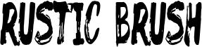 Rustic Brush Font