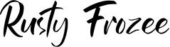 Rusty Frozee Font