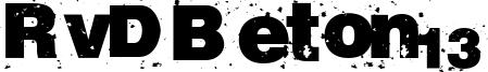 RvD Beton13 Font