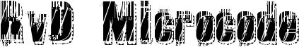 RvD Microcode Font