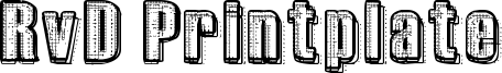 RvD Printplate Font