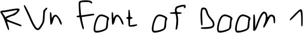 RVn Font of Doom 1 Font