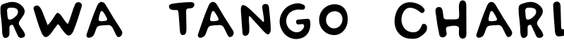 RWA Tango Charlie Font