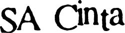 SA Cinta Font