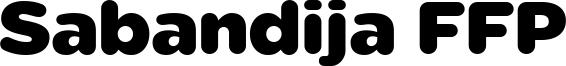 Sabandija FFP Font