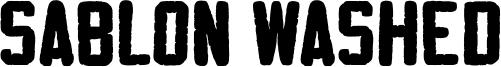 Sablon Washed Font