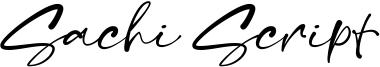 Sachi Script Font