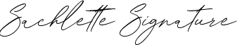 Sachlette Signature Font