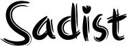 Sadist Font