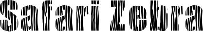 Safari Zebra Font