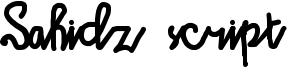 Sahidz script Font