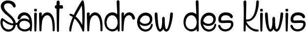 Saint Andrew des Kiwis Font