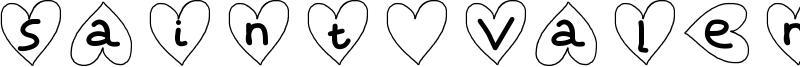 Saint Valentin Font