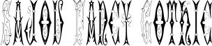 Sajou Fancy Gothic Font