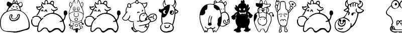 Sakabe Animal 03 Font