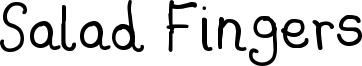 Salad Fingers Font