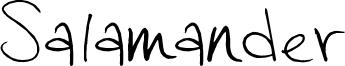 Salamander Font