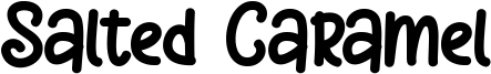Salted Caramel Font
