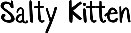 Salty Kitten Font