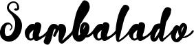 Sambalado Font
