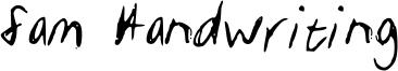 Sam Handwriting Font