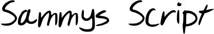 Sammys Script Font