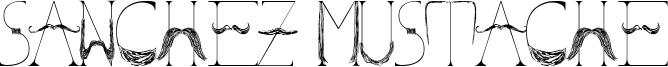 Sanchez Mustache Font