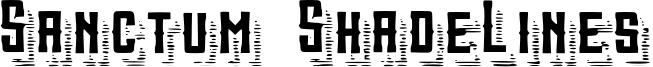 Sanctum ShadeLines Font