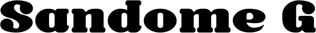 Sandome G Font