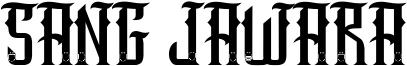 Sang Jawara Font