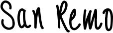 San Remo Font