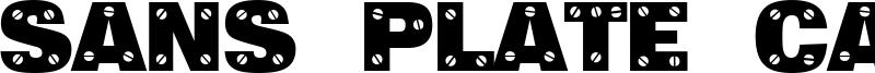 Sans Plate Caps Font