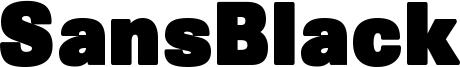 SansBlack Font