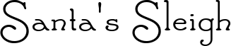 Santa's Sleigh Font