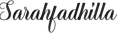 Sarahfadhilla Font