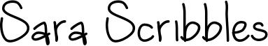 Sara Scribbles Font