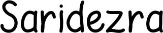 Saridezra Font