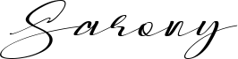 Sarony Font