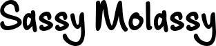 Sassy Molassy Font