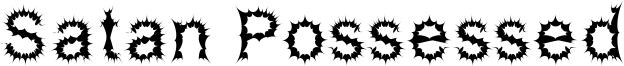 Satan Possessed Font