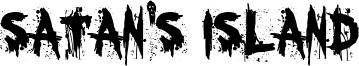 Satan's Island Font