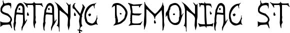 Satanyc Demoniac St Font