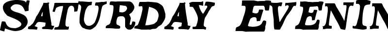 Saturday Evening Font