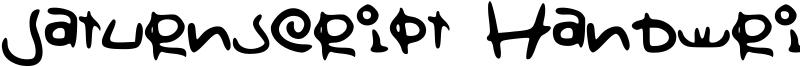 Saturnscript Handwritten Font