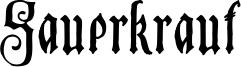 Sauerkraut Font