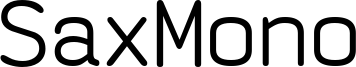 SaxMono Font